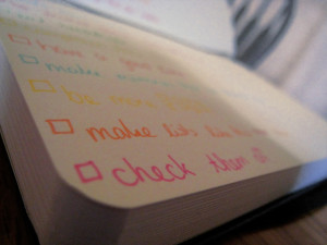 Checklist, Credit MT 23 Via Flickr